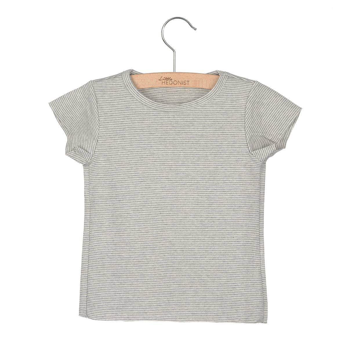Summer shirt grey striped little hedonist Grey striped t shirt